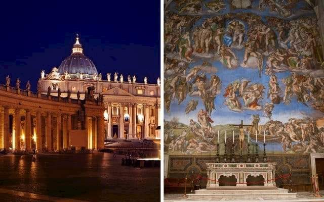 vatican museums sistine chapel night