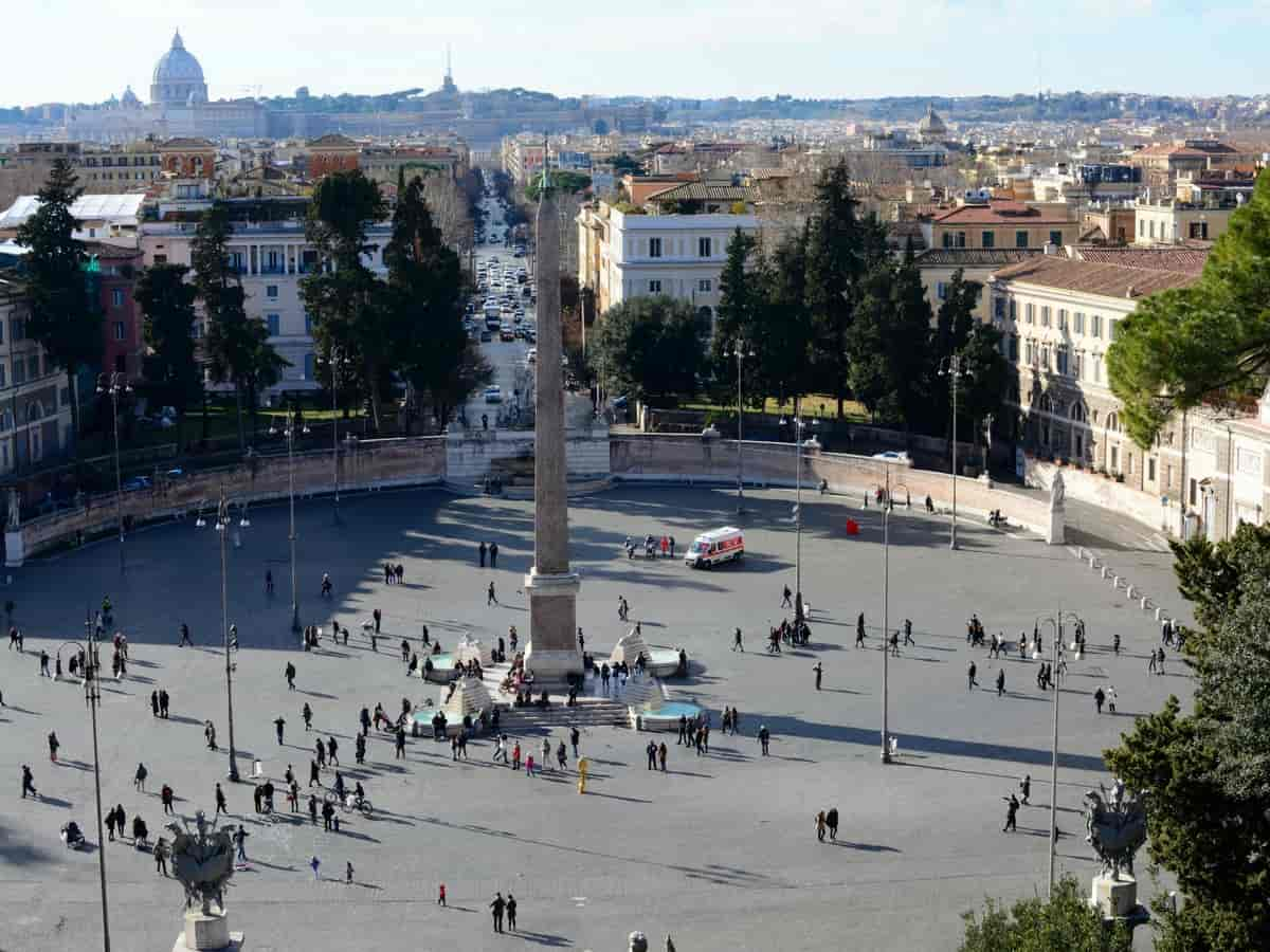 Piazza Del Popolo from above