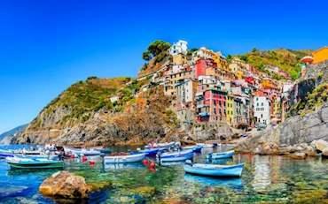 Riomaggiore Houses and Boats