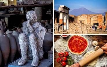 Pompeii Ruins Pizza Lunch
