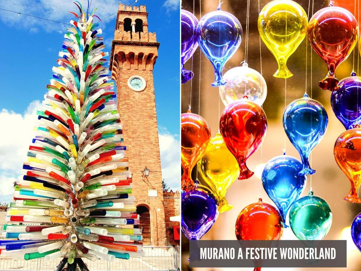 Christmas in Murano with Glass tree and glass balloons