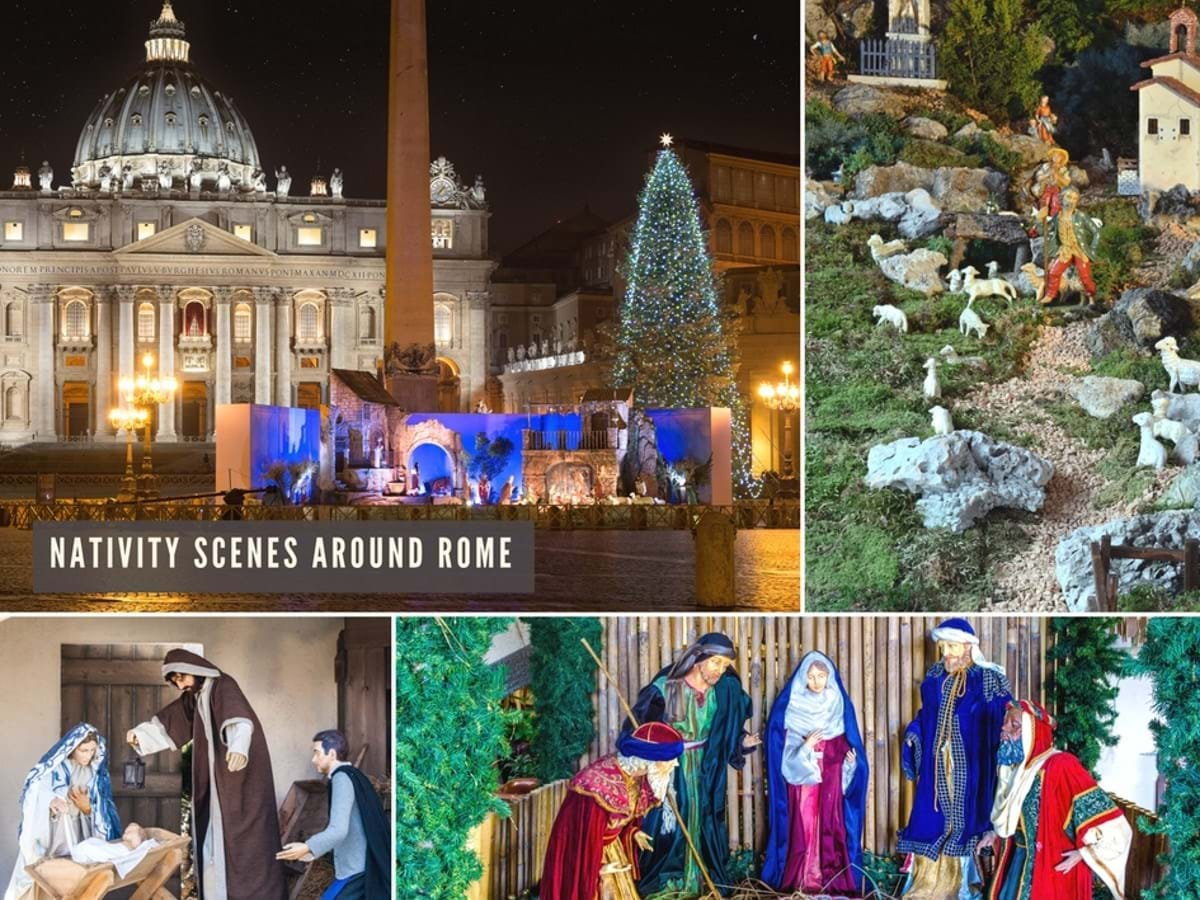 Nativity Scenes from around Rome and St. Peter's Basilica