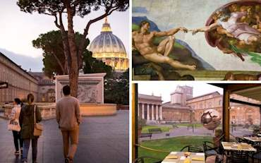 Vatican Museum with Breakfast at the Pinecone Restaurant