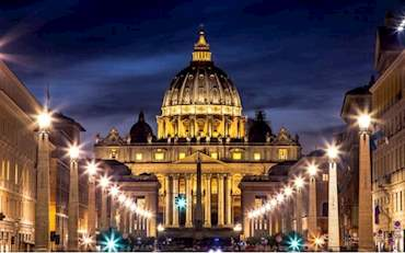 St Peters Vatican by Night