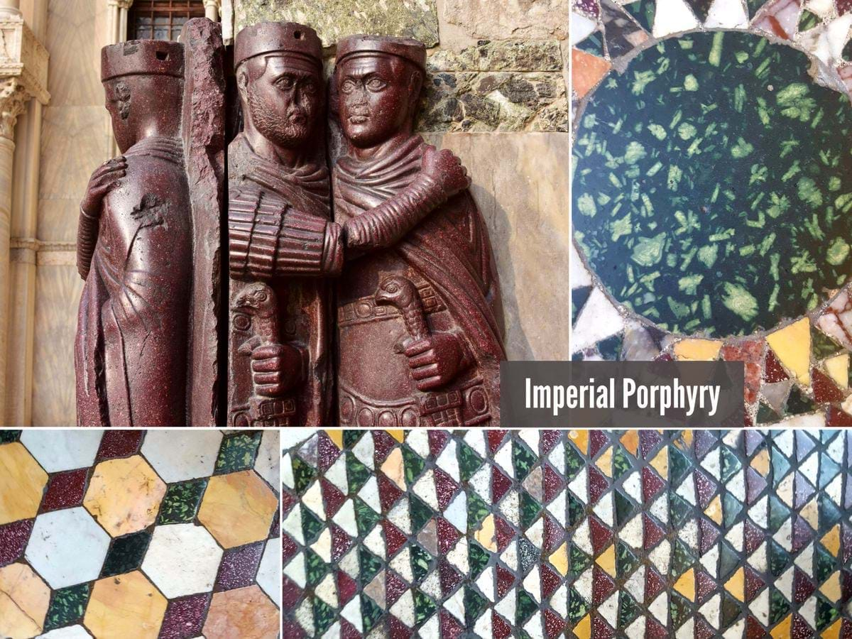 Imperial Porphyry in Italy
