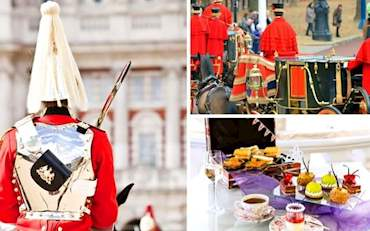 The Royal Changing of the Guard with Traditional English Tea