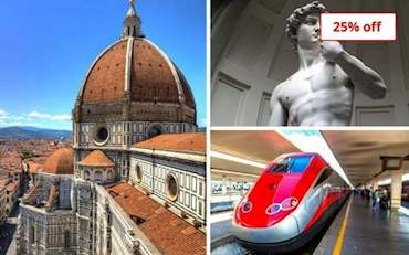 Cathedral of Florence, David and High speed train