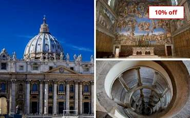St Peter's Basilica, Sistine Chapel and Bramante Staircase