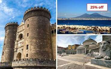 Castel Nuovo, Naples Bay and Piazza del Plebiscito