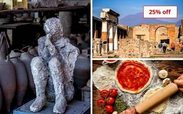 Pompeii Ruins, Vesuvius and Pizza Lunch